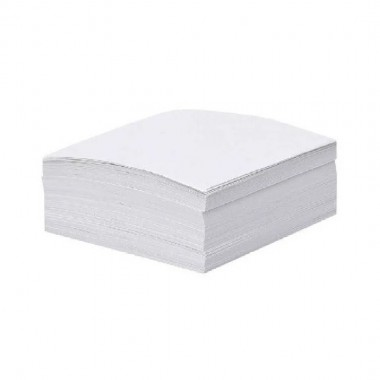 Папір для нотаток білий, 85х85мм 300арк., клеєний