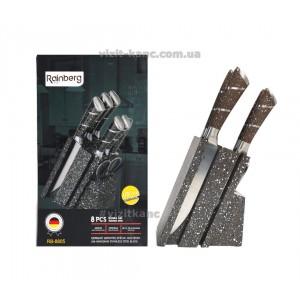 Набор кухонных ножей Rainberg RB-8805 из 8 предметов коричневый-мрамор