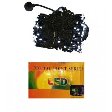 Светодиодная гирлянда 3 м-3 м 240 LED штора-водопад с черным проводом  8 режимов белый
