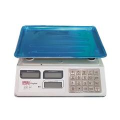 Весы торговые OPERA OP-218 до 50 кг корпус пластик. 5г деление, 48ч. без заряда, цв. белый