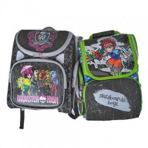 Рюкзак школьний 40х34 см MONSTER HIGH. SKATEBOARDS BOYS