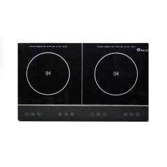 Индукционная плита портативная на 2 конфорки Domotec MS-5872 серебро