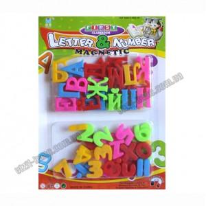 Набор букв и цифр на магнитах пластик 28,8*21,5см