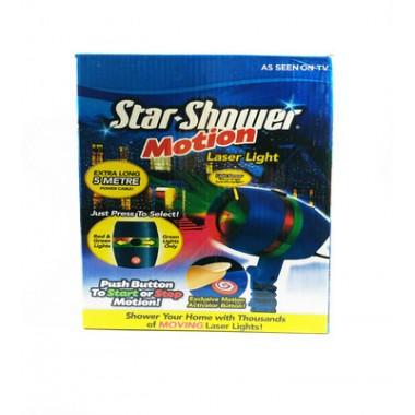 Новогодний лазерный проэктор Star Shower Motion уличный мульти