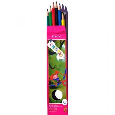 Карандаши цветные 6 цветов LEONARDO