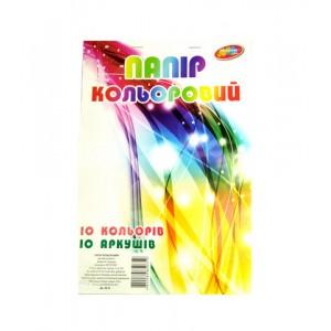 Бумага цветная А4 офс. 10лис