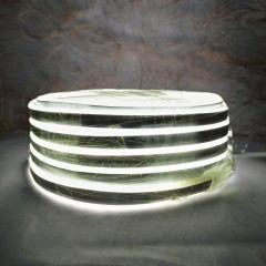 Светодиодная гирлянда Rainberg шланг 20 м с белым проводом белый