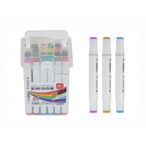 Набір скетч маркерів 24шт в пластиковому футлярі
