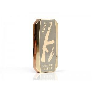 Аккумуляторная электро импульсная спиральная USB зажигалка JL-802 АК-47 золото