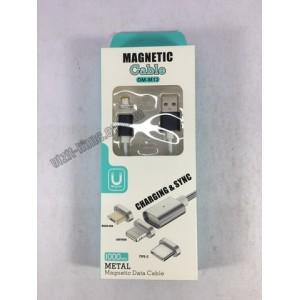 Кабель USB магнитный Magnetic Cable 2А 1м. iPHONE