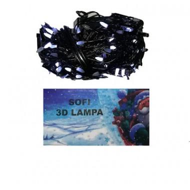 Светодиодная гирлянда SOFI 20 м 200LED свеча с черным проводом 8 режимов белый