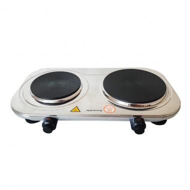 Электроплита двухконфорочная Rainberg RB-007 3500Ват. 46*27см дисковая цв. белый