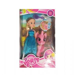 Кукла+пони в коробке