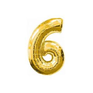 Кулька цифри золото 45см. номер -6