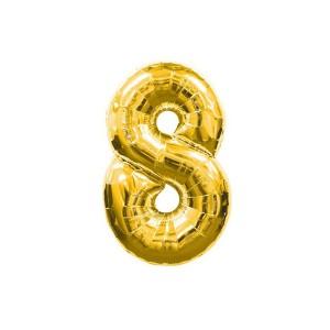 Кулька цифри золото 45см. номер -8