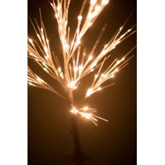 Новогоднее декоративное светодиодное дерево белое гирлянда 150 см 96 Led тёплый белый