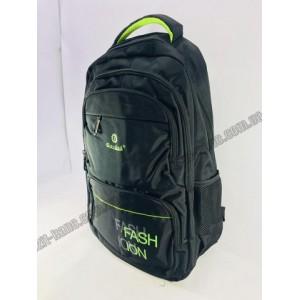 Рюкзак Fashion черно-зелёный 50*35см.