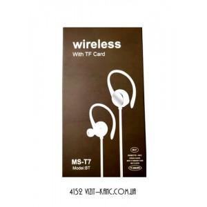 Наушники Bluetooth WIRELESS MS-T7 белый