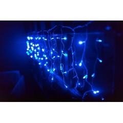 Светодиодная гирлянда 3.5 м 120LED бахрома с силиконовым проводом (68х31х20см) синий