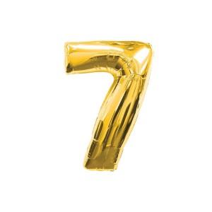 Кулька цифри золото 45см. номер -7