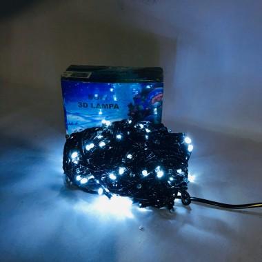 Светодиодная гирлянда SOFI 20 м 200LED лампочка с черным проводом 8 режимов белый