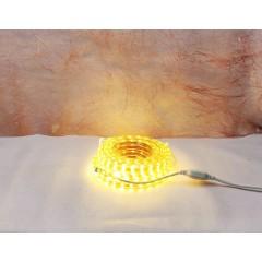 Светодиодная гирлянда RGB шланг 10 м с белым проводом тёплый белый