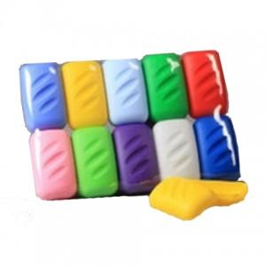 Мыльница пластик цветная №205 12*9см.