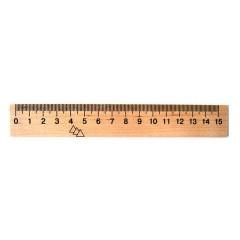 Линейка деревянная 15см (50)
