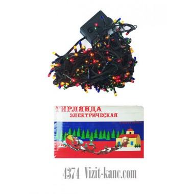 Светодиодная гирлянда 13 м 360 LED кристал с черным проводом 8 режимов мульти