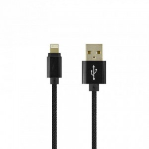 Кабель USB-iPhone MAGNETIC CLIP-ON LIGHTNING черный