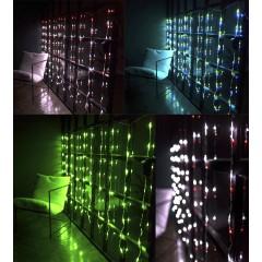 Гирлянда Водопад прозрачный провод 3 м Х1.5 м 320LED микс