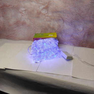 Гирлянда Водопад прозрачный провод 3 м Х 1.5 м 320LED синий