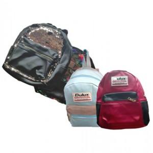 Рюкзак женский черный кож-зам с вставками ассорти 29*30см