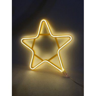 Светодиодная гирлянда декорация фигура на окно Звезда 29/29 см с прозрачным проводом  тёплый белый