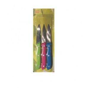 Набор ножей для фруктов 3шт на блистер 19,5см