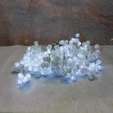 Светодиодная гирлянда роса с капельками Snow globe 300LED штора водопад 3*1,45м  белый