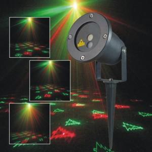 Лазерный LED проектор уличный рисунки мульти