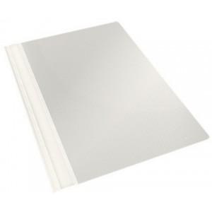 Скоросшиватель пласт А4  Economix белый с перфорацией (10)