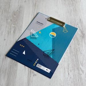 Планшет с зажимом А4, полноцвет., переплет. картон Голландия  2 мм, ламинация