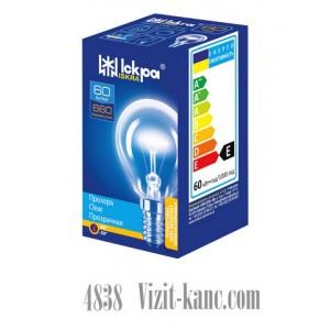 Лампа накаливания Искра R14 60 WT Шарик