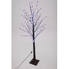 Новогоднее декоративное светодиодное дерево коричневое гирлянда 150 см 96 Led белый