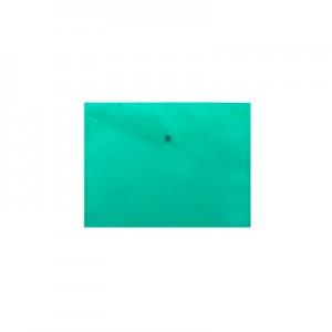 "Папка-конв. пл. А5 ""BuroMAX"" 3936-15 на кноп. зел."