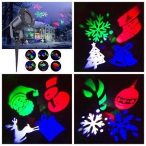 Лазерный проектор LED SL-103 Snowflake Projection Lamp уличный мульти