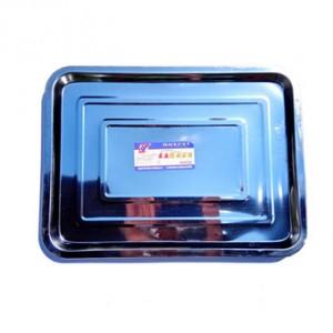 Поднос металлический прямоугольный малый 32х22х1,5 см