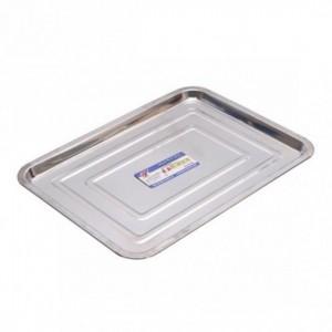 Поднос металлический прямоугольный средний 35х26х1,5 см