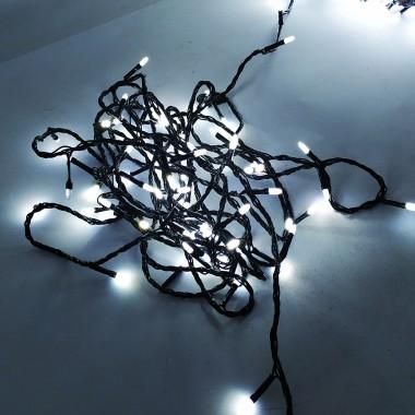 Светодиодная гирлянда SOFI 40м 400LED свеча матовая с черным проводом 8 режимов белый