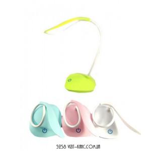 Лампа світлод настільна, 3 яскравості кольору. 4 кольори мікс от акум.