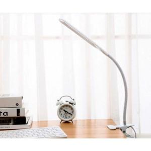 Настольная лампа светодиодная гибкая LED на прищепке Q-LED от USB 24 LED  СР9100 белая