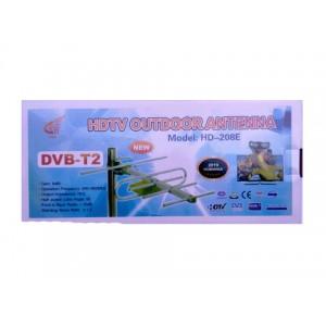 Антена цыфрового телевидения DVB-T2 HD-208E 38см