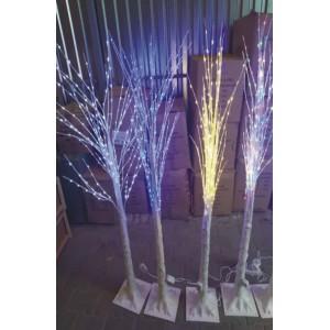 """Новогоднее декоративное светодиодное дерево гирлянда """"Береза"""" 160 см 96 Led  мульти"""
